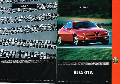 PUBLICITE ADVERTISING 025  1997  ALFA ROMEO   GTV  ( 2 pages)