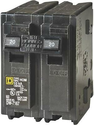 New Square D Hom220C Homeline 20 Amp Double Pole Circuit Breakers 6721427