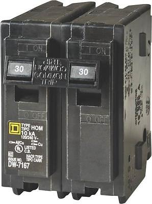 New Square D Hom230Cp Homeline 30 Amp Double Pole Circuit Breakers 6721344