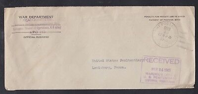 Usa 1945 Apo 113 War Department Cover 17 Bpo Cancel To Lewisburg Pa