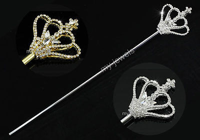 Children Scepter Princess Girl Gold / Silver Costumes Magic Wand