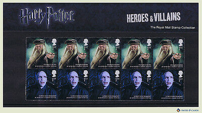 2011 Harry Potter Heroes & Villains Limited Edition Stamp Presentation Pack