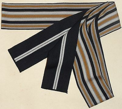 New Navy and Gold Men's Cotton Tanzen Obi for Yukata Kimono Made in Japan