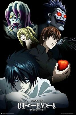 24x36 Poster Death Note Cast of Characters Light Yagami