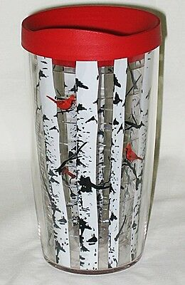 Tervis USA Cardinals Perched on Birch Trees Design Wrap 16-oz Tumbler w/Lid