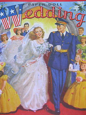 NEW!!  8-Doll WEDDING Paper Doll Book from PSP--LOVELY Military Set!
