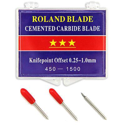 Roland Cutter Blades 45 Degree Vinyl Plotter 3 Pack Cemented Carbide Replacement