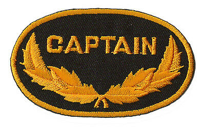 Patche écusson Captain Marine Marin capitaine patch thermocollant