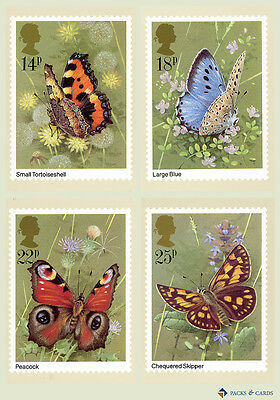 1981 Butterflies PHQ 51 - Mint PHQ Cards - Set of 4 Royal Mail Post Cards