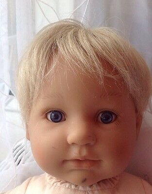 Doll BERENGUER BOUTIQUE BOY DOLL WITH BLONDE  HAIR Needs TLC