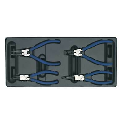 Sealey Mechanics Premier Tool Tray With Circlip Pliers Set 4pc For AP24 - TBT03