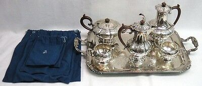 Reproduction Old Sheffield Silver Plate by C.S. Greene & Co. Tea & Coffee Set
