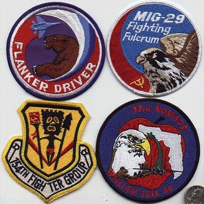 US AIR FORCE 1 PATCH 33rd FIGHTER SQUADRON NOMADS William Tell 1986 USAF