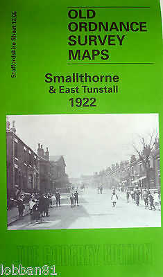 Old Ordnance Survey Map Smallthorne & East Tunstall Staffordshire 1922 S12.05