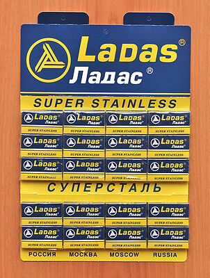 100 New Ladas Rapira Double Edge Safety Razor Blades+ Free Gift!