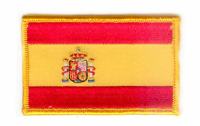 Spain Spanish  Flag Patch Badge Iron On New Embroidered