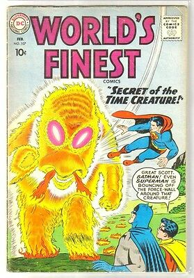 WORLD'S FINEST #107 Secret of the Time Creature! DC Comic Book ~ VG-
