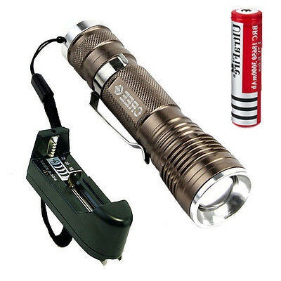 Ultrafire 1000LM CREE XM-L Q5 18650 Flashlight Torch Light 18650 Battery Charger