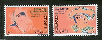 Luxembourg 2003 Great Famous Women Composer Feminist Leader Sc 1105-6 MNH # 06