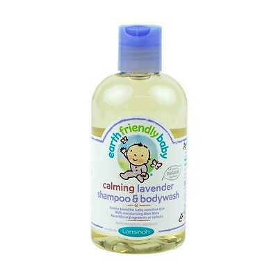 Earth Friendly Baby Calming Lavender Shampoo and Bodywash 250ml Mild & Gentl