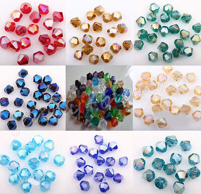 Wholesale 100Pcs Czech Crystal Spacer Loose Charms Beads Jewelry Making 4mm