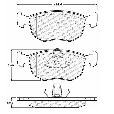 Disc Brake Pad-Posi-Quiet Extended Wear w/Shims and Hrdwr-P Front fits Contour