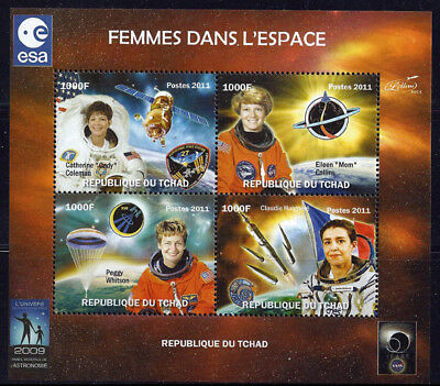 2011 Woman Astronauts in Space  4 Stamp Sheet   3B-310
