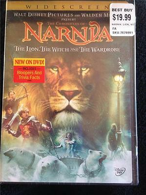 New The Chronicles of Narnia WIDESCREEN DVD Disney The Lion Witch and Wardrobe