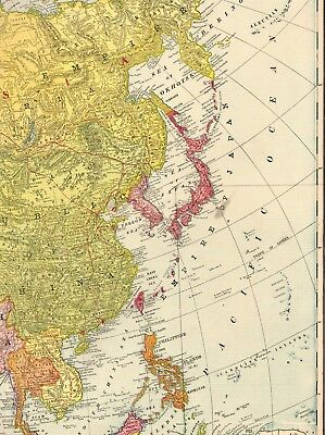 1920 Antique ASIA Map Vintage Map of Asia Gallery Wall Art UNCOMMON Size #1114