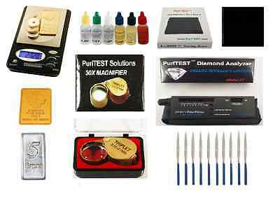 Gold Coin Test Kit + Electronic Diamond Tester Detector + Digital Testing Scale