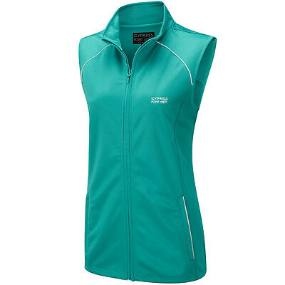 80% OFF RRP Cypress Point Ladies Golf Gilet Sleeveless Vest - Teal