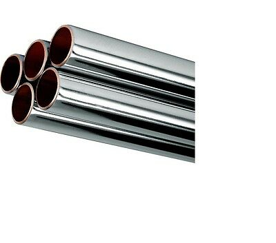 15mm 22mm Chrome Plated Copper Pipe Tube Various Lengths & Sizes