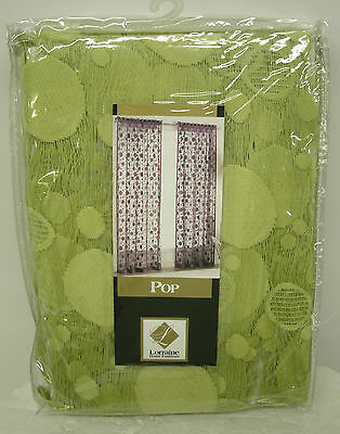 "New Pop Panels Bright Green Curtains Lace Curtain Panel 60""W x 63""H"