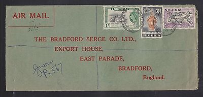 Nigeria 1959 Qeii Registered Airmail Cover Gusau Manuscript To Bradford England