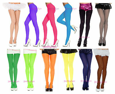 🌟Plus Size OPAQUE COLORED TIGHTS Pantyhose Fits to 225 LBS 🌞 QUEEN