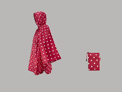 mini maxi poncho by Reisenthel ruby dots AN3014 Regencape Regenpocho