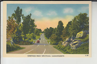 Greetings from Wrentham MA Mass  L-33