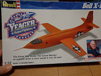 Bell X-1 Test Pilot Gus Lundquist signed Bell X-1 model unassembled...