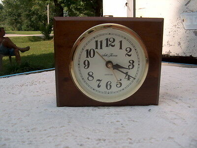 """SETH THOMAS BY TALLEY """"CLOCK 189H"""" WITH WOOD CASE VINTAGE MADE IN USA VINTAGE"""