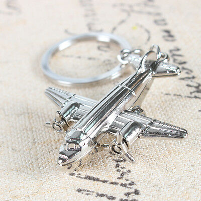New Creative Metal Aircraft Airplane Charm Pendant Key Ring Keychain Accessories