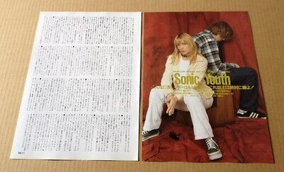 1993 Sonic Youth 2pg 1 photo JAPAN mag article / press clipping cutting 05r