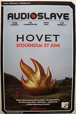 AUDIOSLAVE 2003 SWEDEN CONCERT TOUR POSTER - 1st Album Cover Artwork
