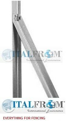 """steel diagonal posts for """"T"""" posts for wire mesh fencing 25x25mm"""