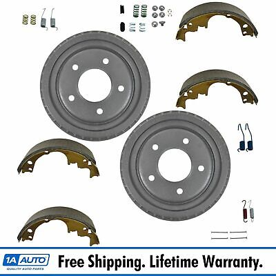 Rear Brake Shoe Drums & Hardware Kit Set 9.5 x 2 for Chevy GMC Buick