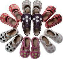 Girl Leather Squeaky Shoes Polka Dots Purple, Red w Black, Hot Pink w Lime 1-7