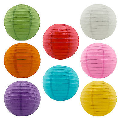 "8pc Chinese Round Bright Paper Lanterns 8"" Wedding Party Hanging Decoration"
