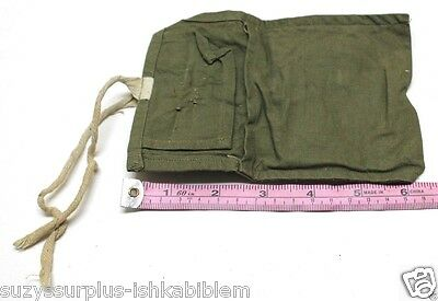 """Green Cotton Sewing Kit 6.5"""" x 4.5"""" or tool pouch used each E8880"""