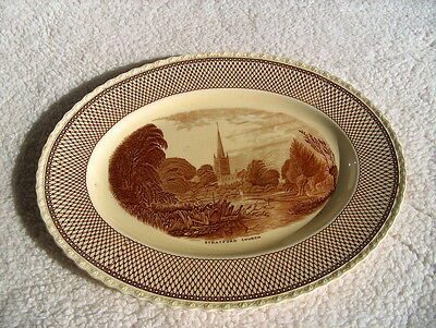 MYOTT SON & CO,HANLEY EST1880 ENGLAND PLATTER W/SCENE OF CHURCH STRATFORD CHURCH