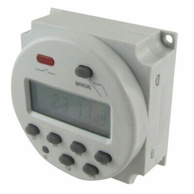 AC 110V Digital LCD Power Programmable Timer Time Switch Relay 8As