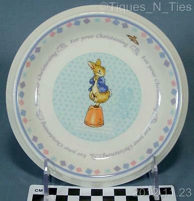 Wedgwood England Peter Rabbit For Your Christening Children's Plate (FF)